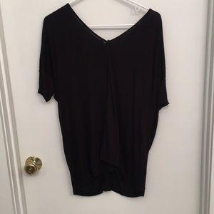 Never been worn black Zara t-shirt with zipper